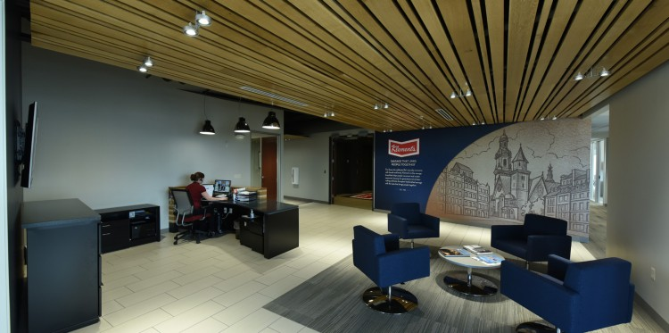 Klement's Sausage Company Lobby by Madisen Maher Architects
