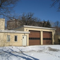 Abandoned fire station before renovation