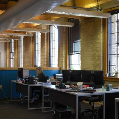 Natural light brightens work spaces