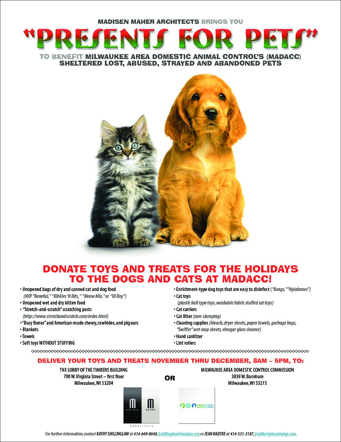 "MMA brings you ""Presents for Pets"" to benefit MADACC"