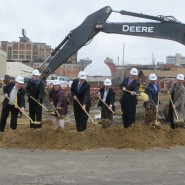 Sean second from left at Standard Electric groundbreaking