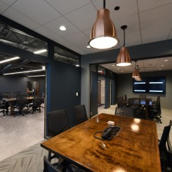 Office open to meeting room