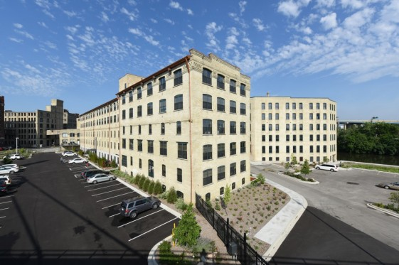 River Place Lofts - Building and Parking Lot