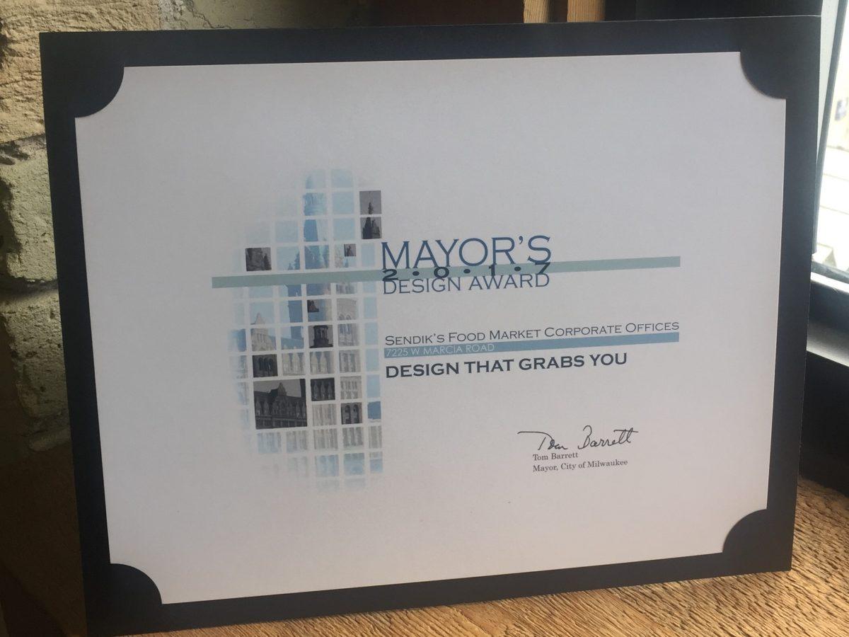 MMA announces Mayor's Design Award for Sendik's Corporate Office