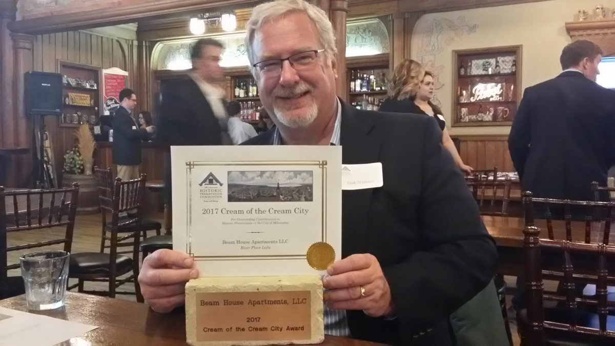 MMA receives a Cream of the Cream City Award for River Place Lofts
